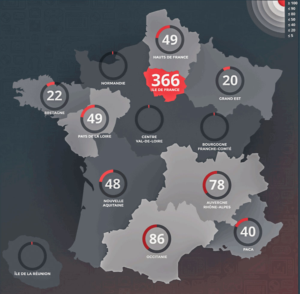 L'occitanie, Vivier De Créateurs De Jeux Vidéo | Le Mas Media dedans Jeu Carte De France