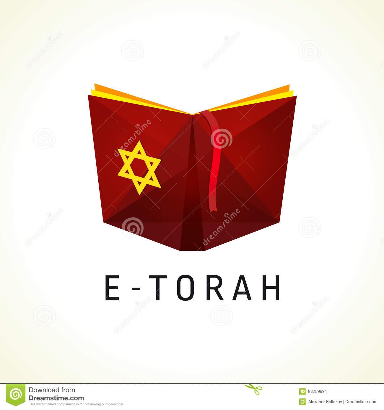 Logo En Ligne De Vecteur De Torah Ou De Tanah Illustration concernant Logiciel Éducatif En Ligne