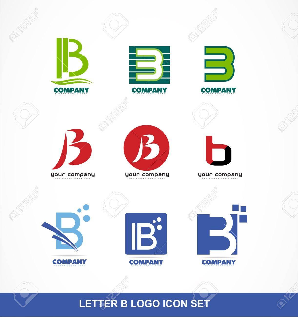 Logo Icône Élément Modèle Lettre Alphabet B Ensemble tout Modele Lettre Alphabet