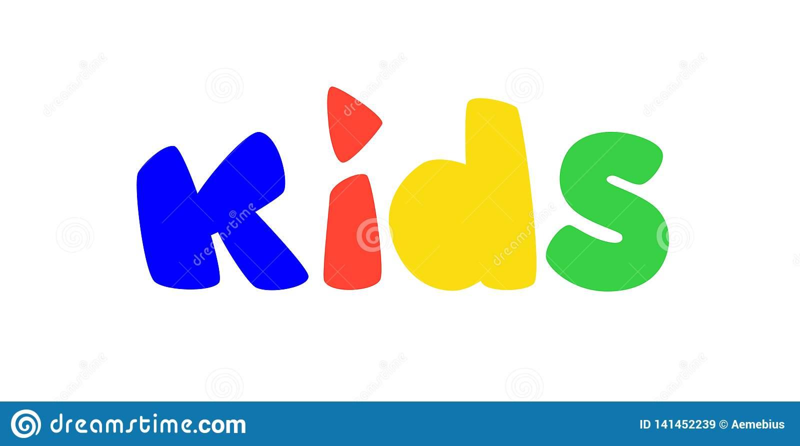 """Logo Pour Des Enfants """"Terrain De Jeux De S Vecteur Logo intérieur Jeux De Lettres Enfants"""