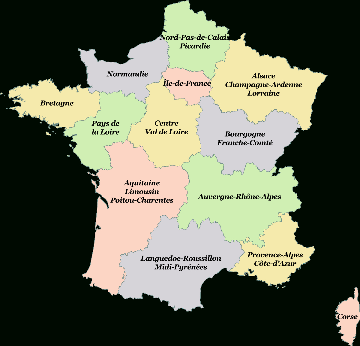 Loi Relative À La Délimitation Des Régions, Aux Élections intérieur Nouvelles Régions Carte