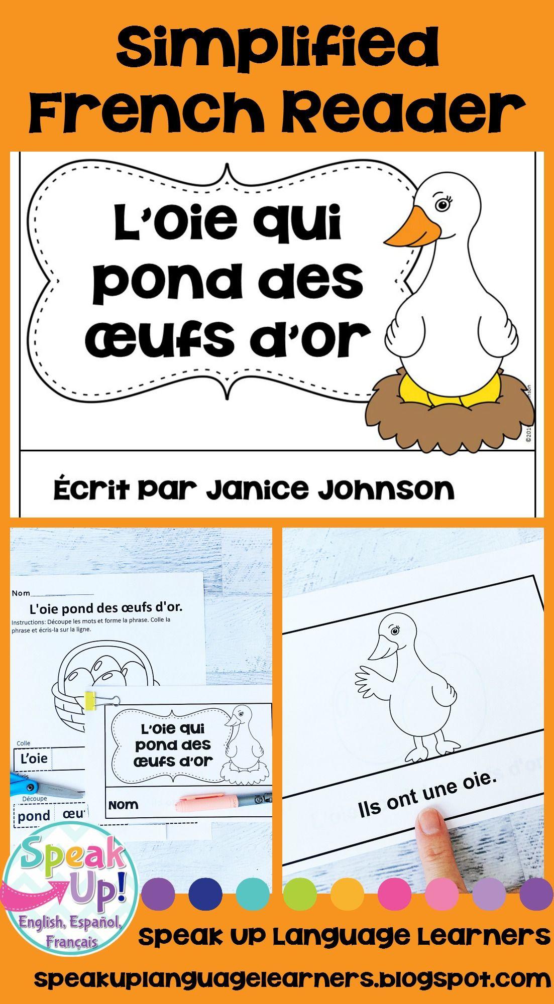 L'oie Qui Pond Des Œufs D'or Reader ~ Simplified French encequiconcerne Animaux Qui Pondent Des Oeufs