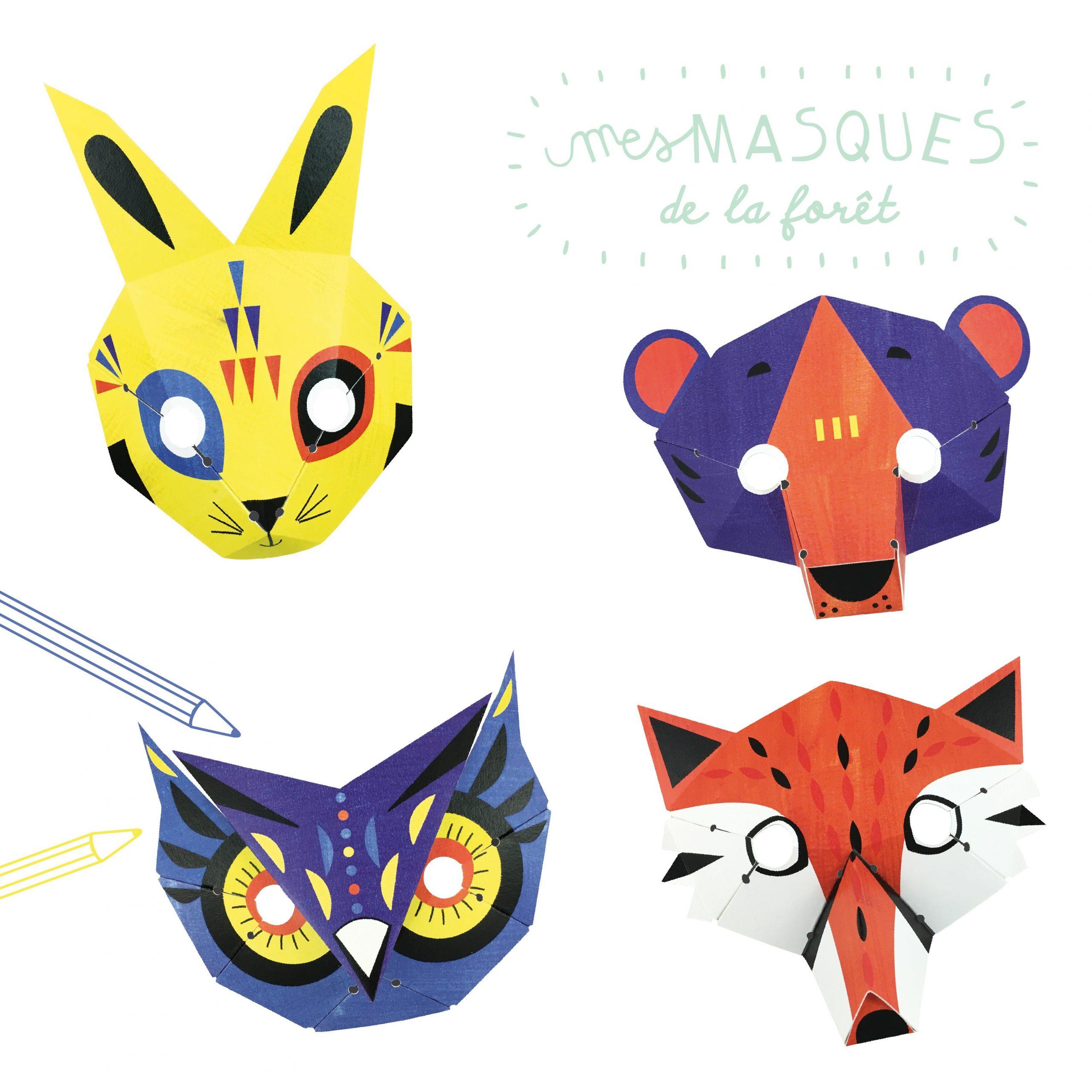 Loisir Créatif Masques Animaux De La Forêt En Papier avec Masques Animaux À Imprimer