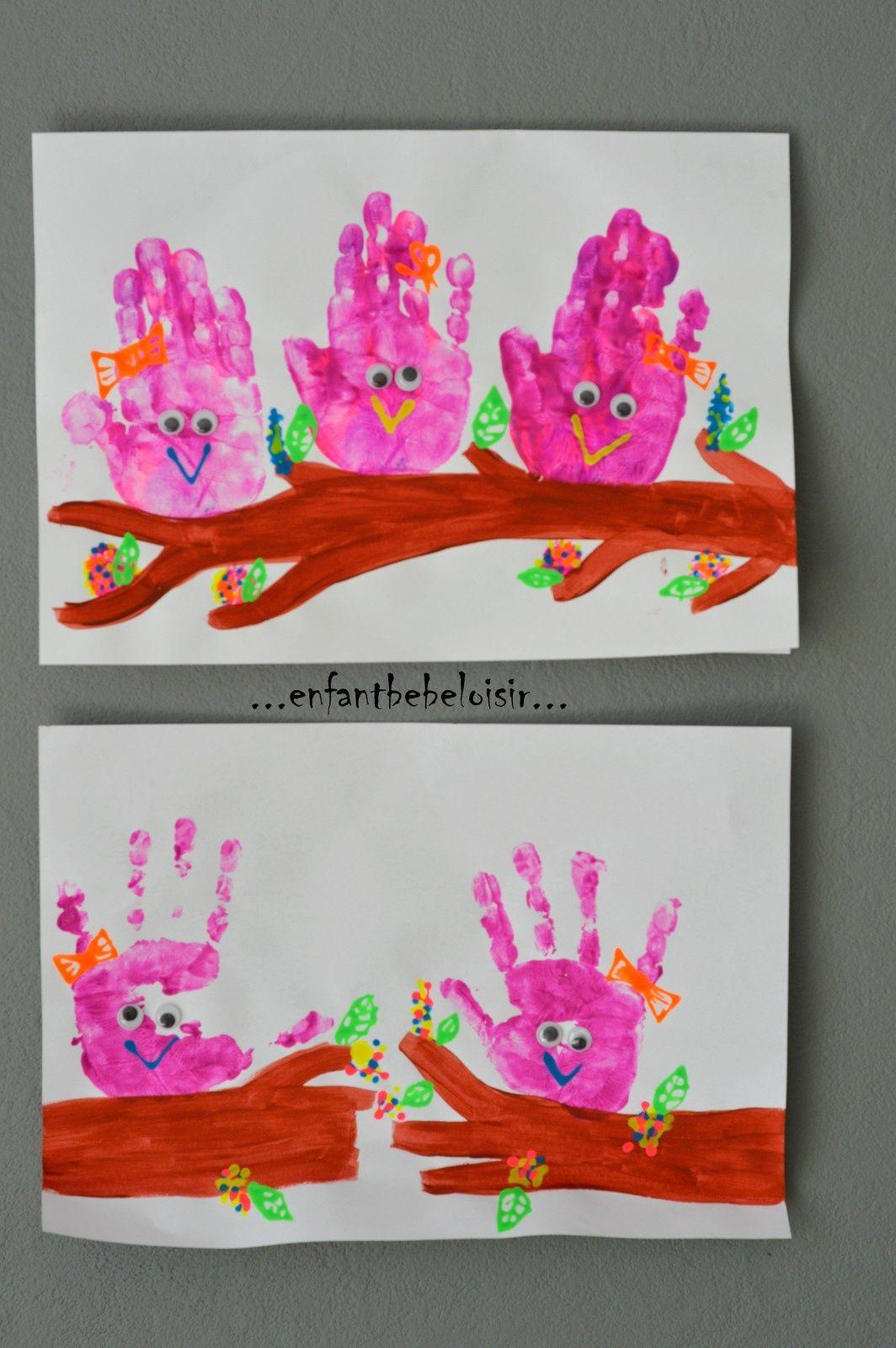 Loisirs Creatifs 2 3 4 Ans | Peinture Avec Les Mains à Activité Manuelle 4 Ans