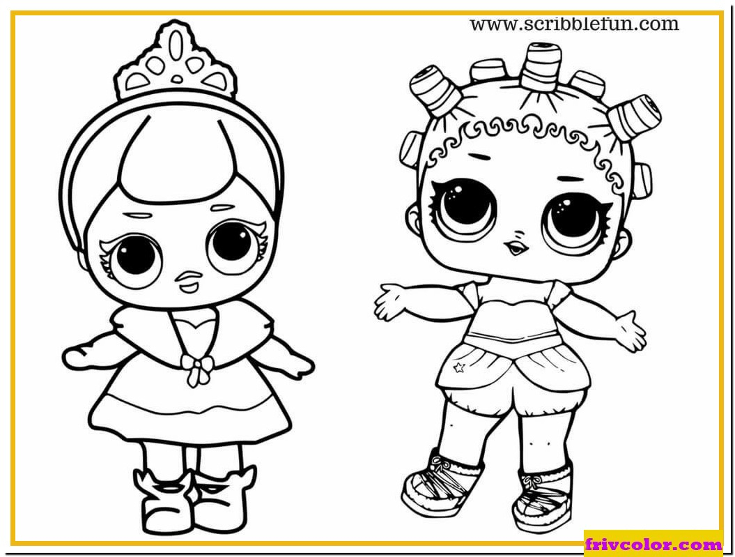 Lol Dolls Cute Baby Princess - Friv Free Coloring Pages For avec Coloriage Dora Princesse