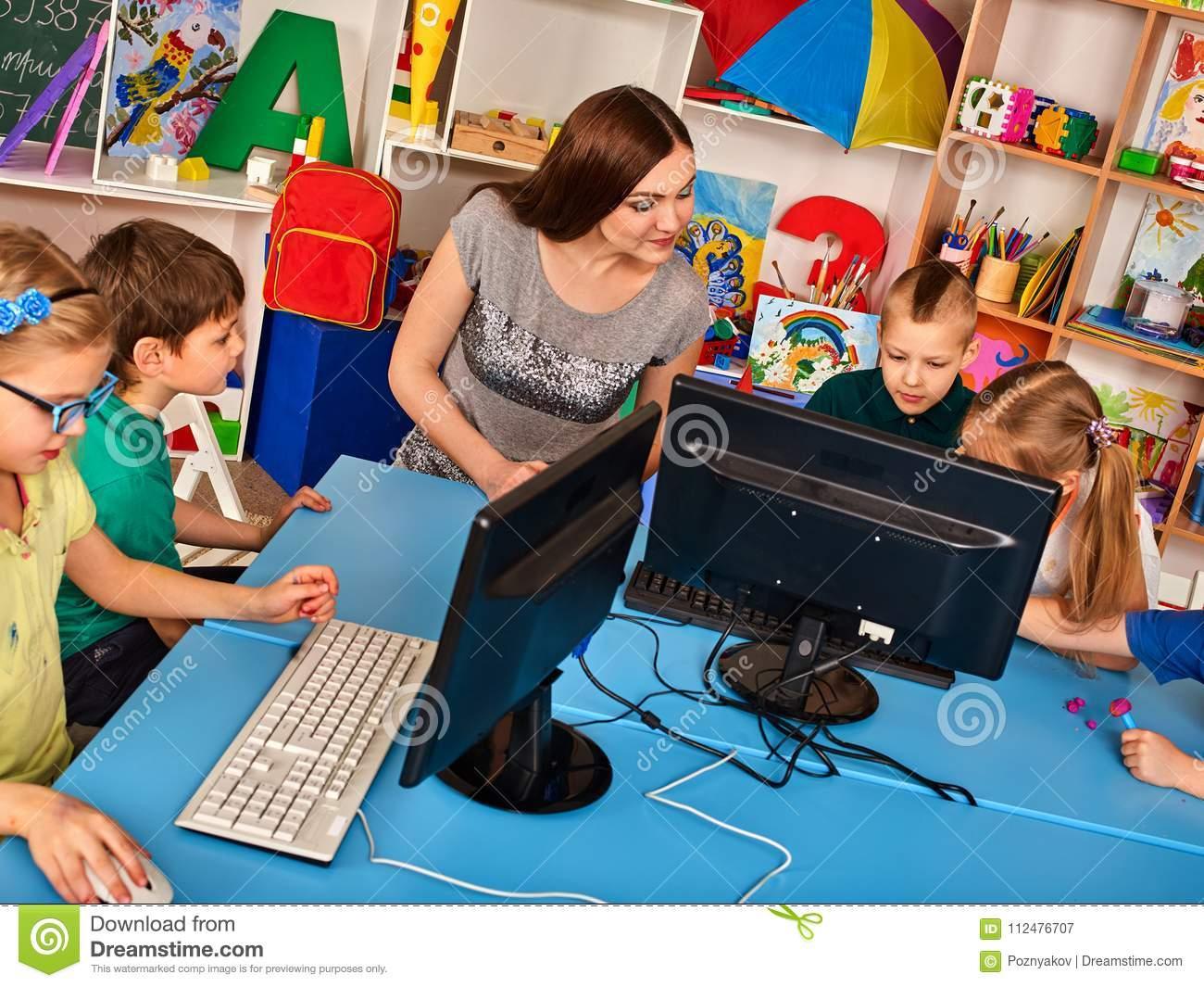 L'ordinateur D'enfants Nous Classent Pour L'éducation Et Le à Jeux Ordinateur Enfant