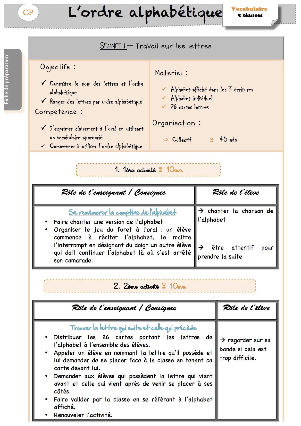 L'ordre Alphabétique - La Classe De Luccia ! encequiconcerne Exercice Pour Apprendre L Alphabet En Maternelle