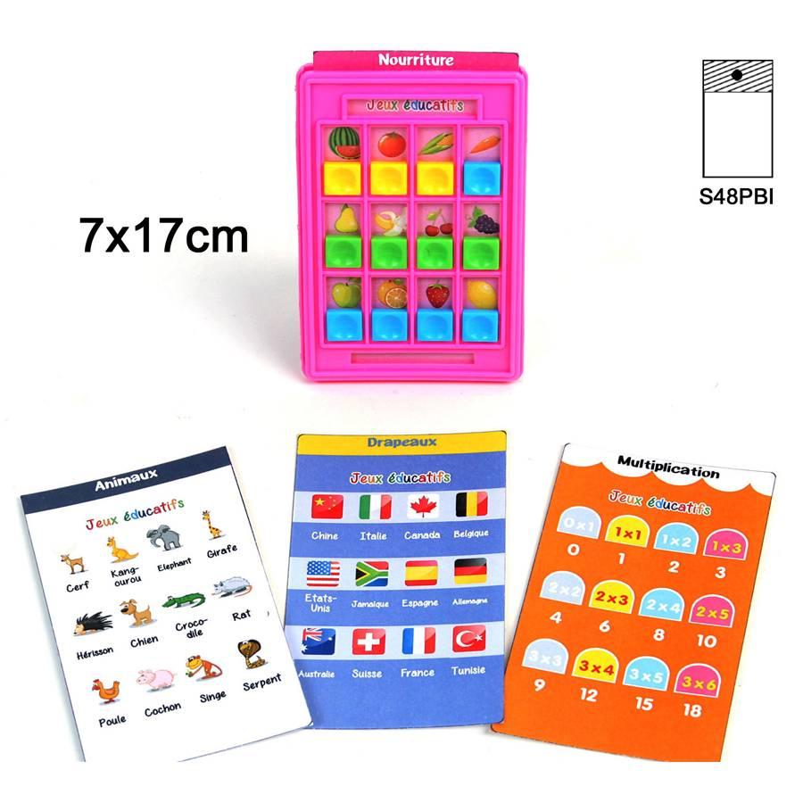 Lot De 12 Jeu Educatif 7X17 Cm 4 Cartes concernant Les Jeux Educatif