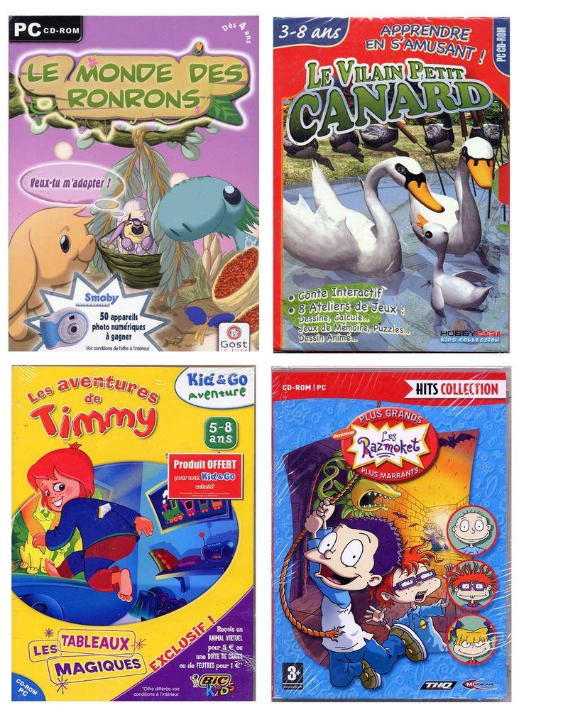Lot De 4 Jeux Pc Pour Enfants De 3 A 8 Ans (Neuf Emballe pour Jeux Pour Petit De 4 Ans