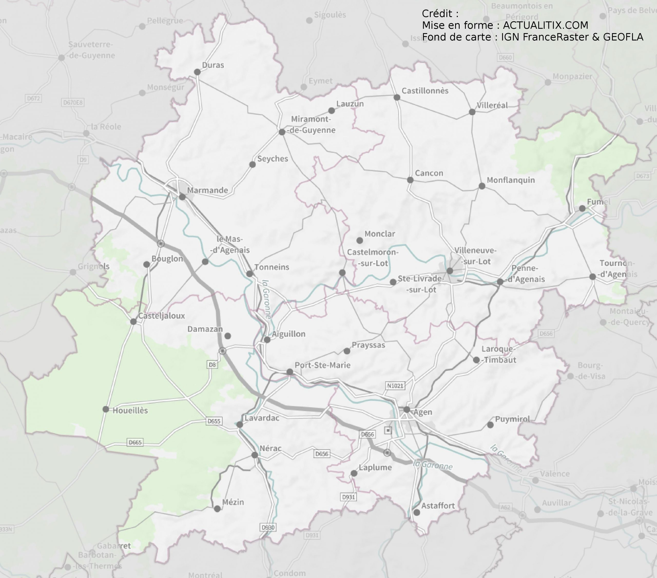 Lot Et Garonne Carte intérieur Carte Numero Departement