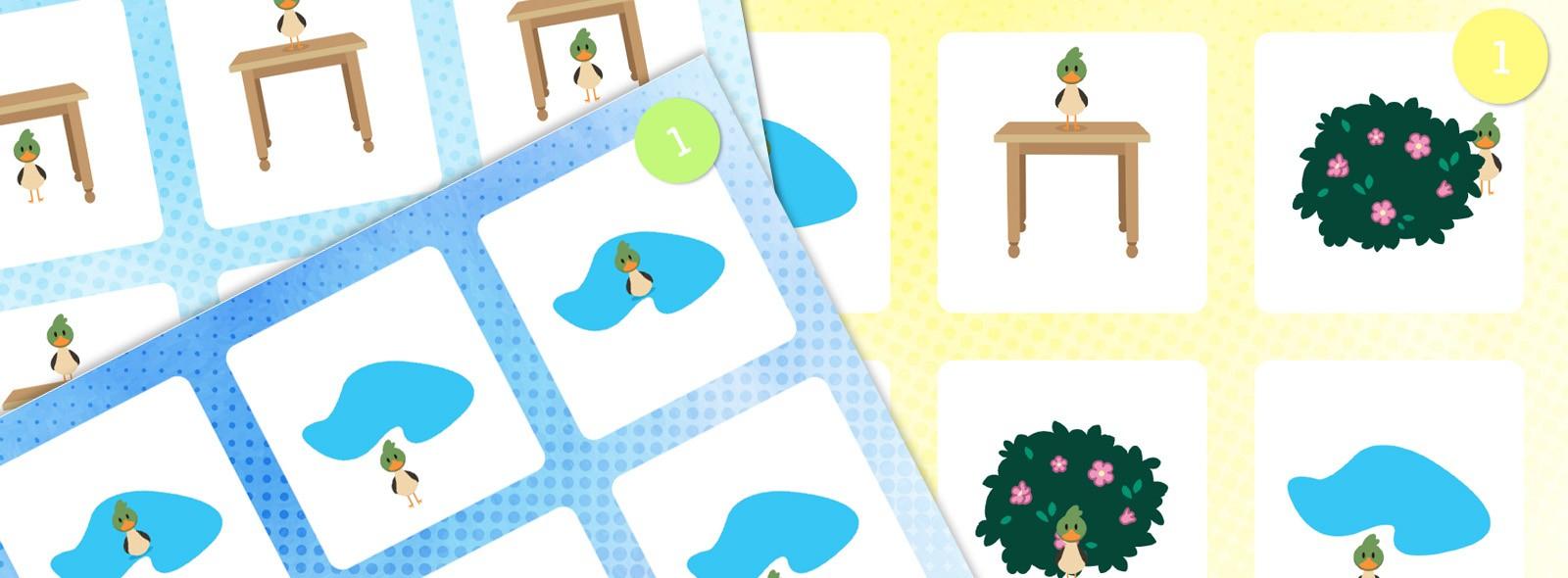 Loto Des Positions : Devant, Derrière, Dans, Etc. - La pour Jeux Gratuit Maternelle Grande Section