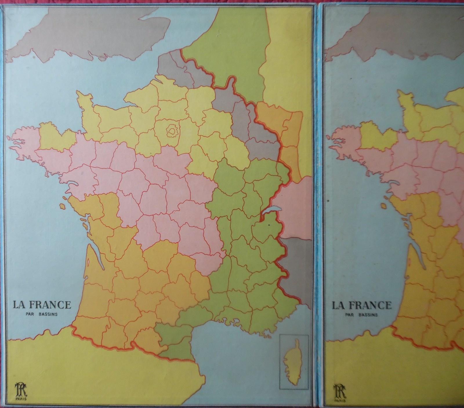 Lotos Géographiques Departements. - Collection De Jeux Anciens à Jeux Des Départements Français