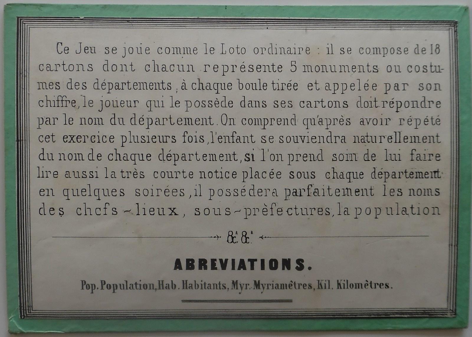 Lotos Géographiques Departements. - Collection De Jeux Anciens dedans Jeux Des Départements Français
