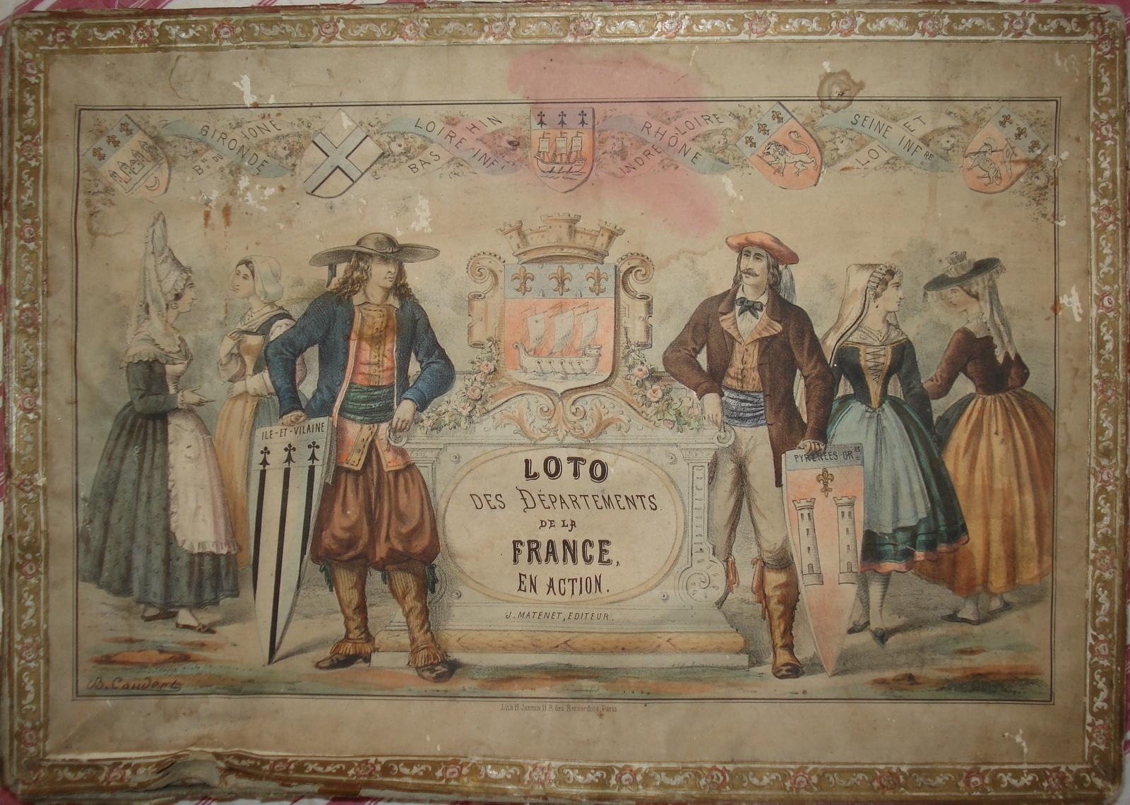 Lotos Géographiques Departements. - Collection De Jeux Anciens pour Jeux Des Départements Français