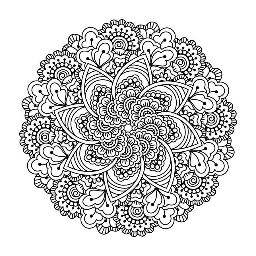 Lotus Doodle Mandala Mural Wallpaper encequiconcerne Mandala Fée