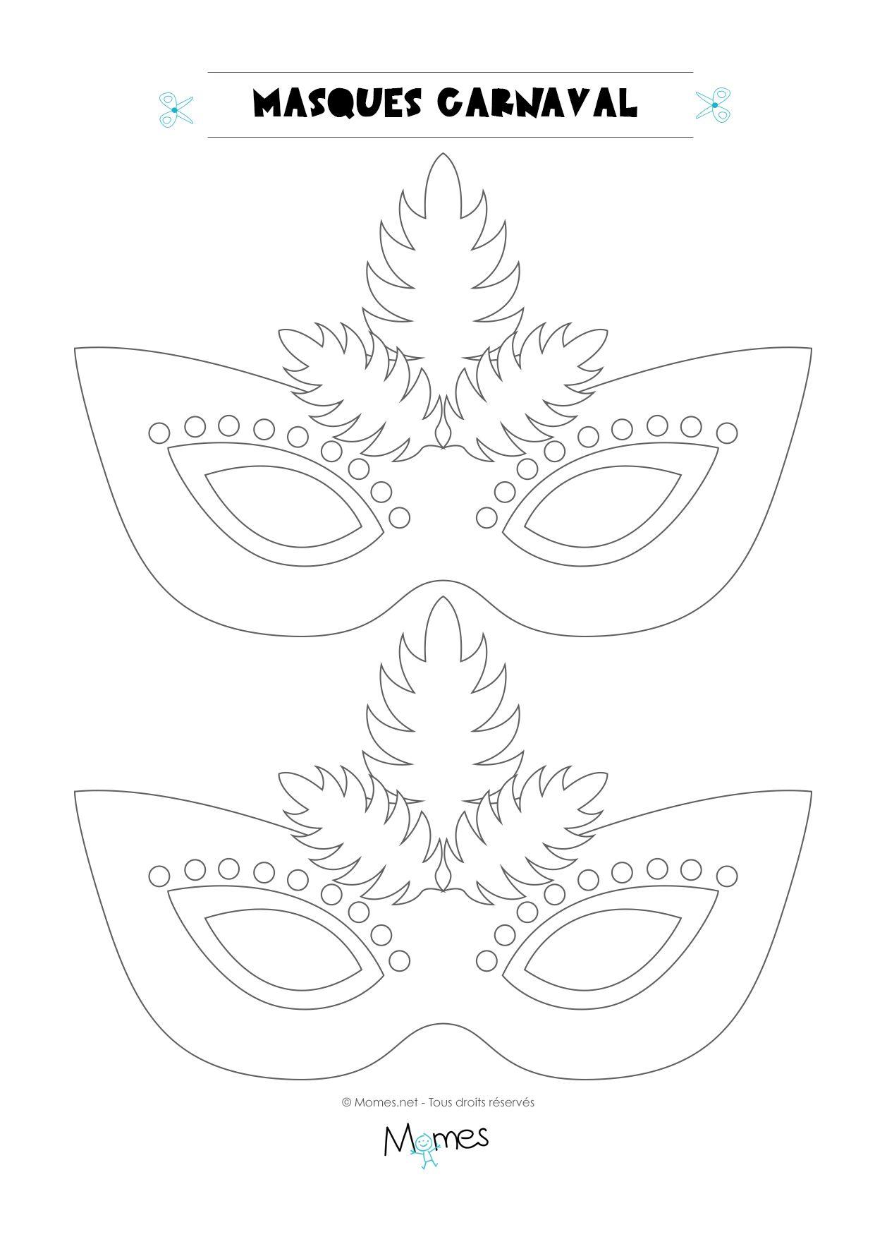 Loup De Carnaval À Colorier | Déguisement À Fabriquer serapportantà Masque De Loup À Imprimer