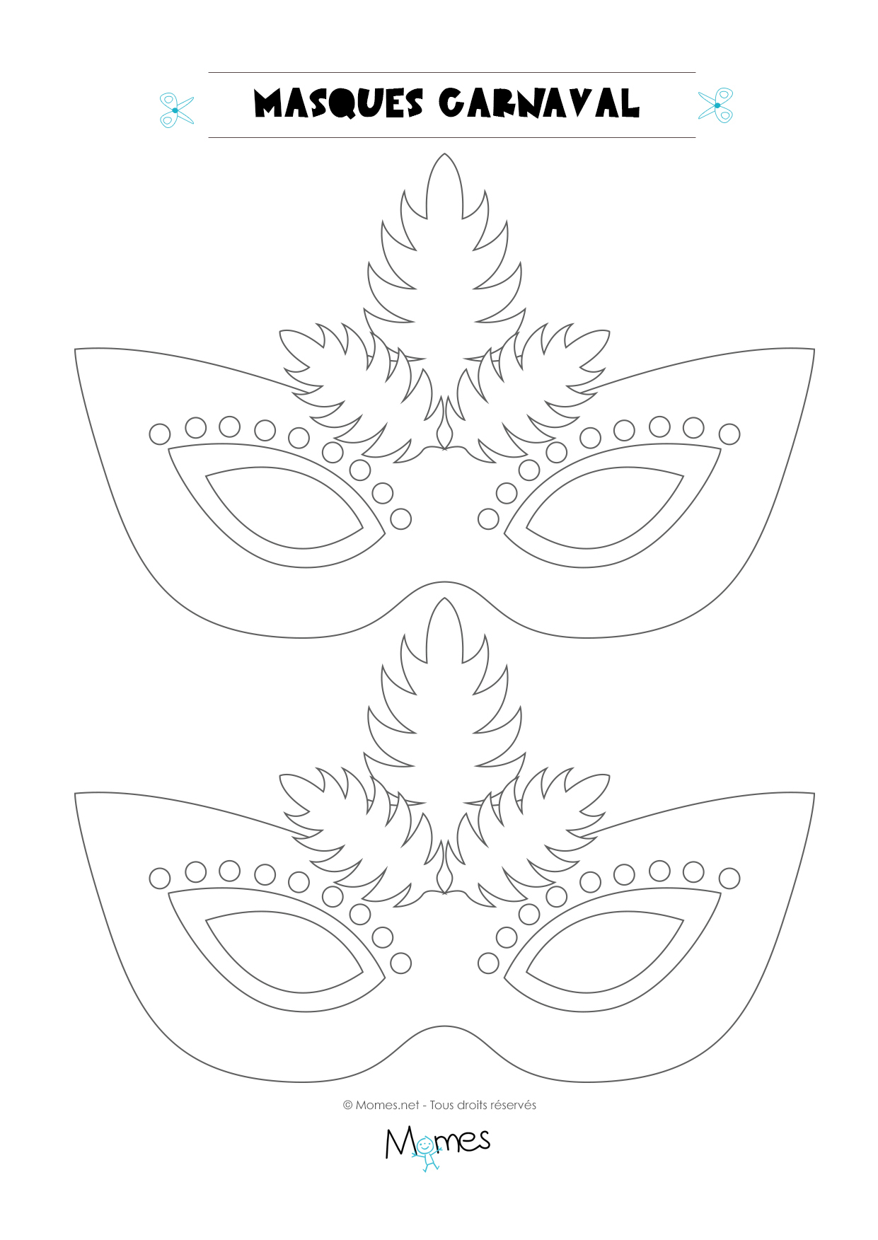 Loup De Carnaval À Colorier - Momes à Masque Loup A Colorier
