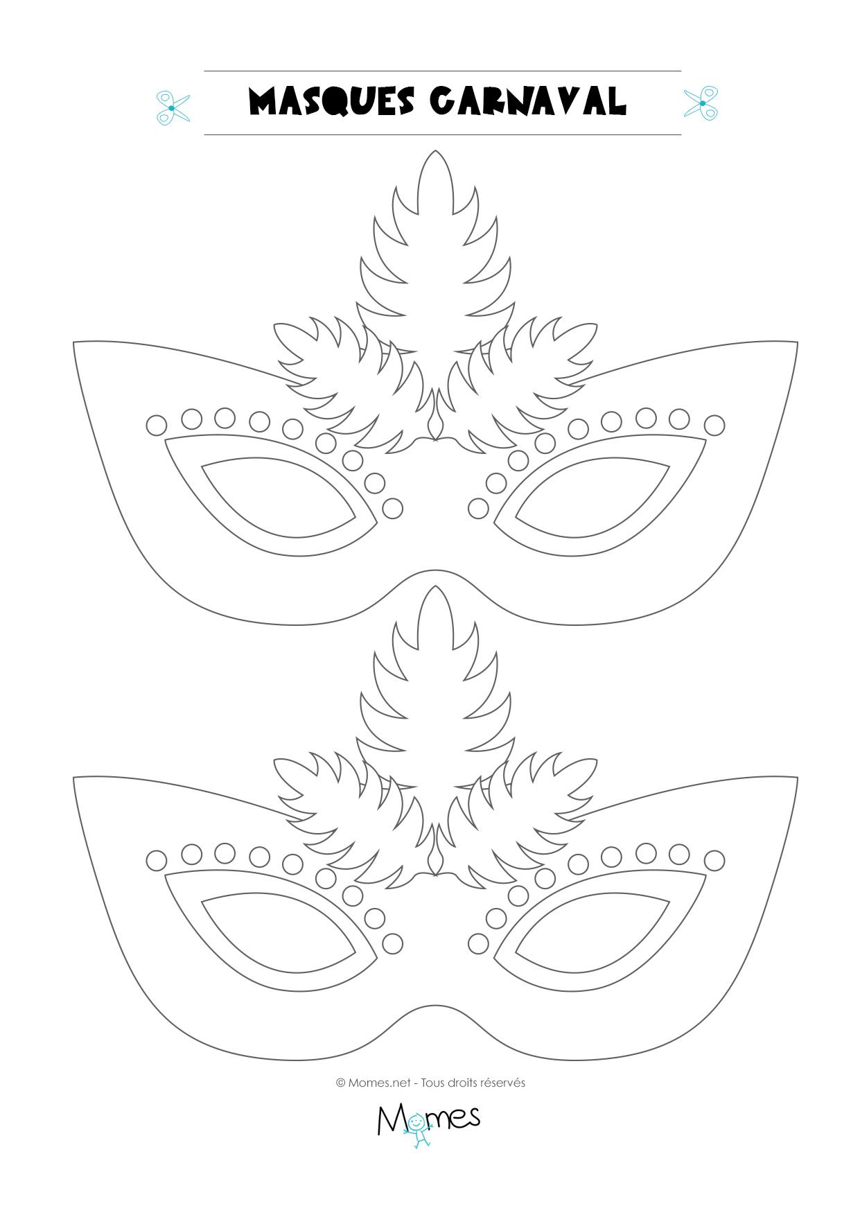 Loup De Carnaval À Colorier - Momes pour Coloriage De Carnaval A Imprimer Gratuit