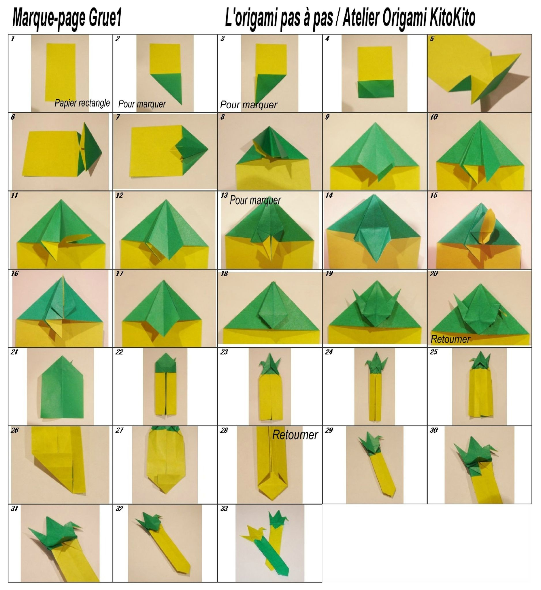 Lovely Modele Origami Facile A Imprimer tout Modele De Marque Page A Imprimer