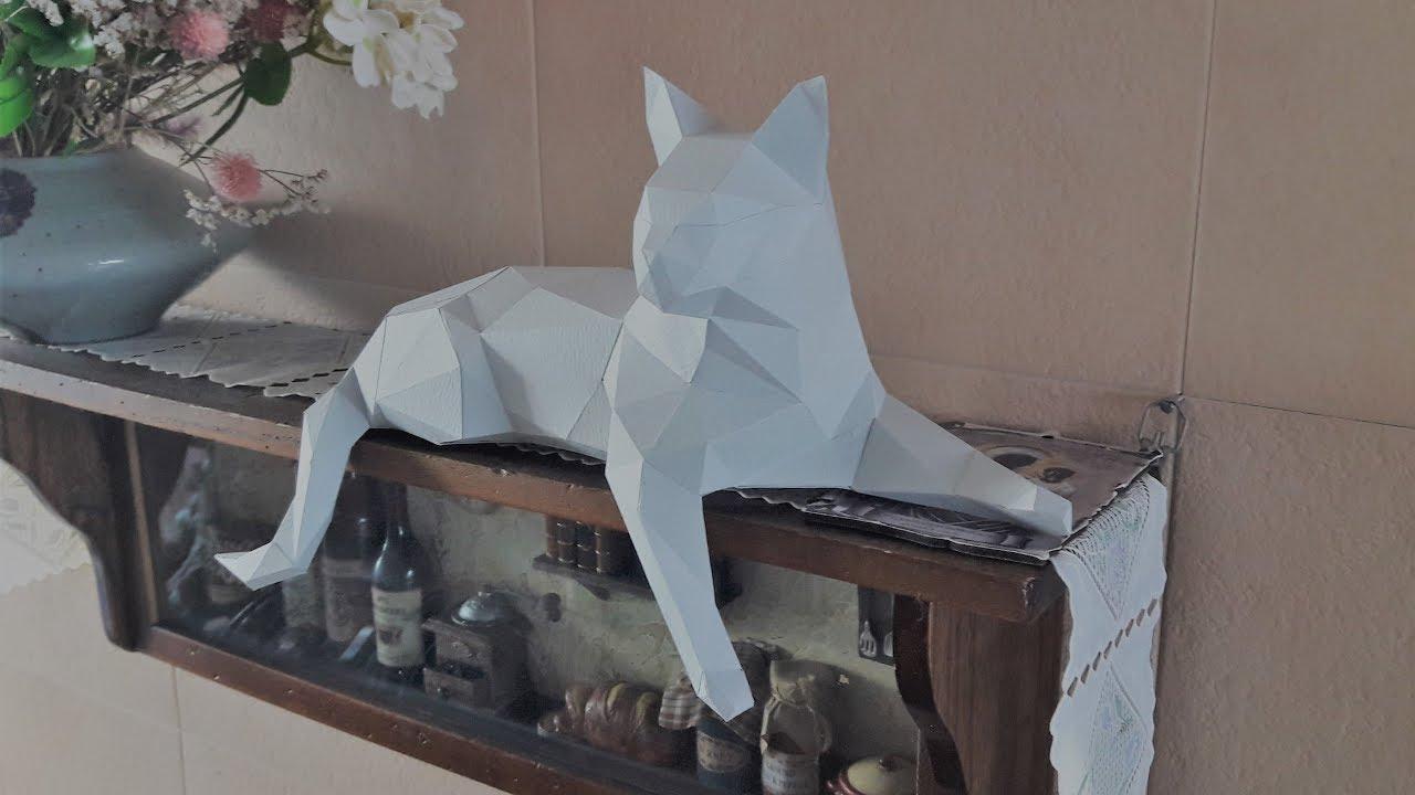 Low Poly Cat - Papercraft #1 avec Paper Toy Gratuit