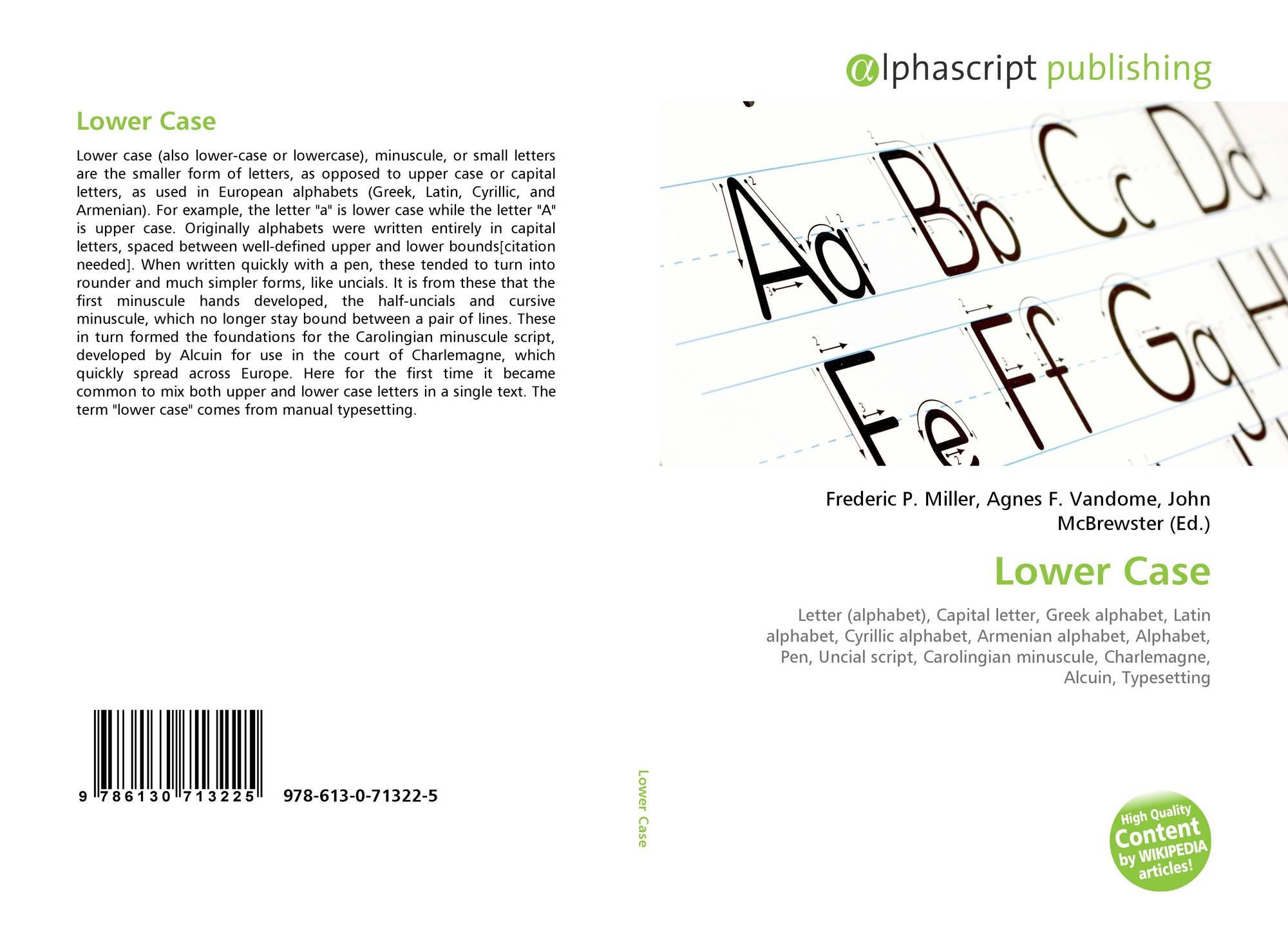 Lower Case, 978-613-0-71322-5, 6130713223 ,9786130713225 encequiconcerne Alphabet Script Minuscule