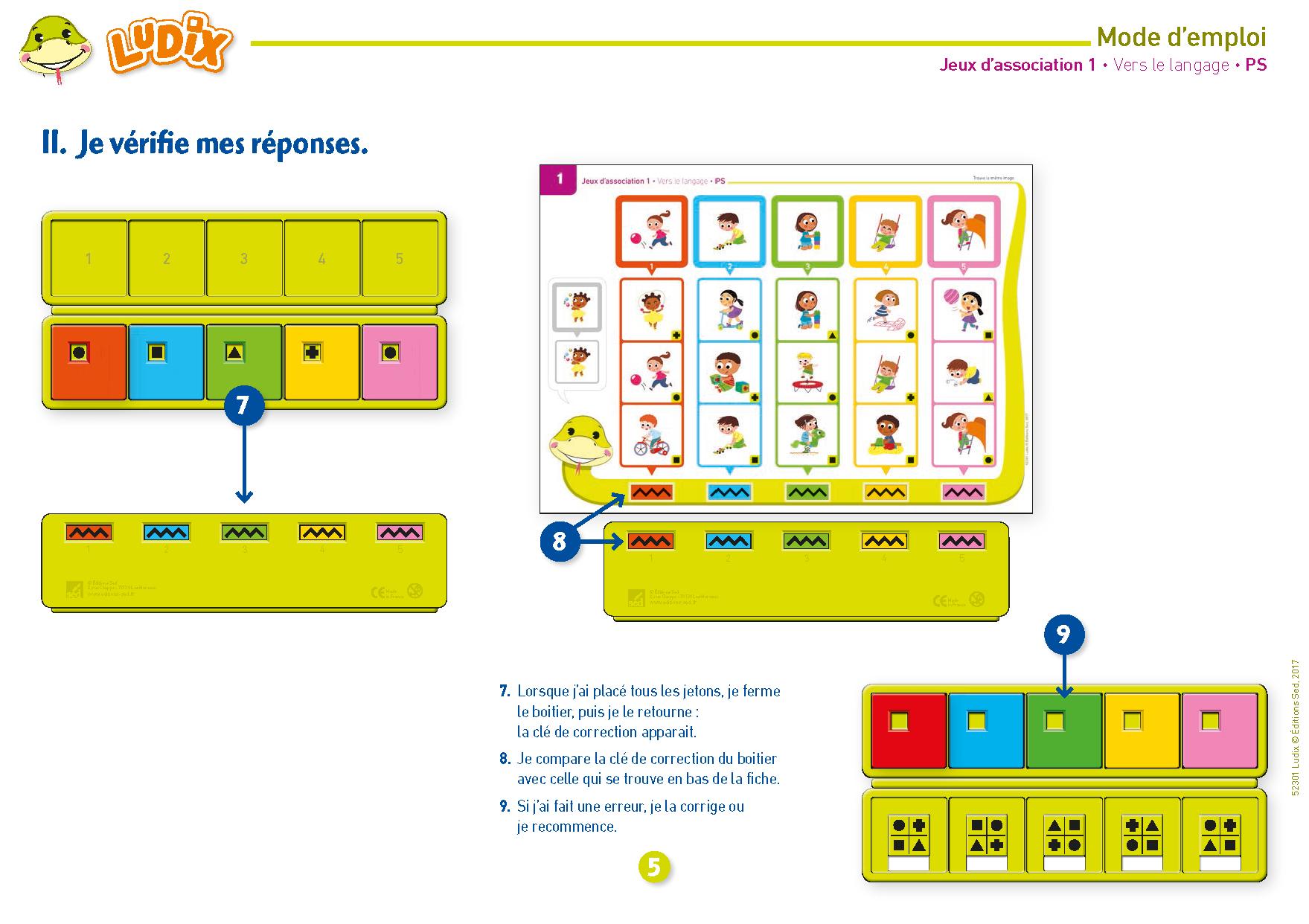 Ludix Jeux D'association 1 Vers Le Langage Ps avec Jeux Pedagogique Maternelle