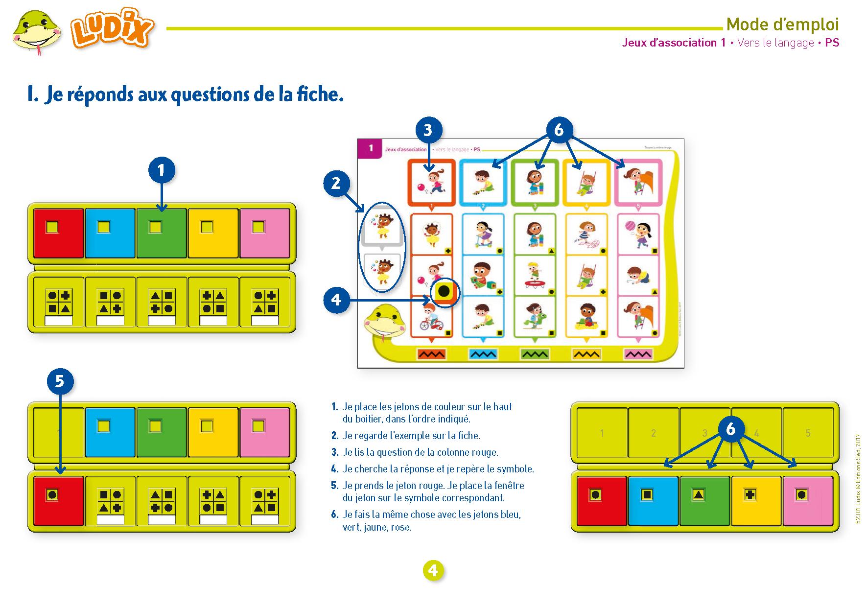 Ludix Jeux D'association 1 Vers Le Langage Ps destiné Jeux Pedagogique Maternelle