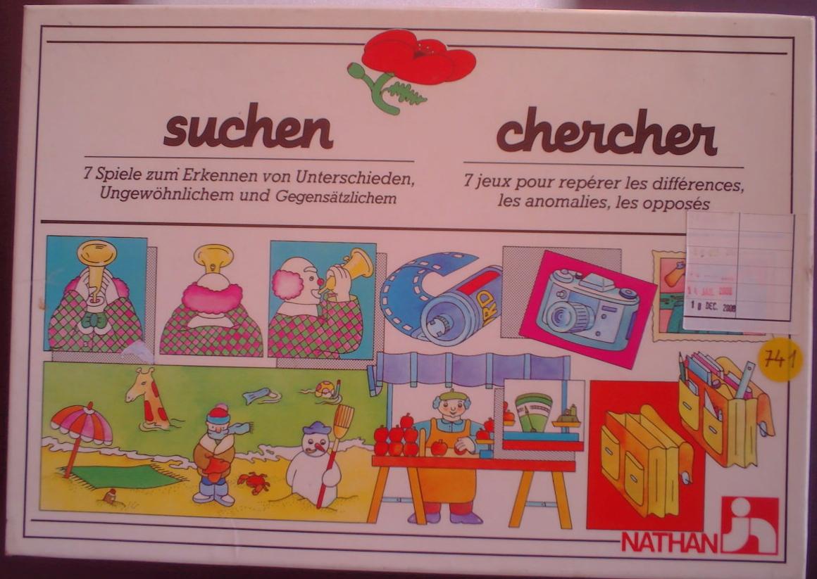Ludothèque De Sierre - 0741---Chercher---1.00---Nathan---4-6 destiné Chercher Les Differences