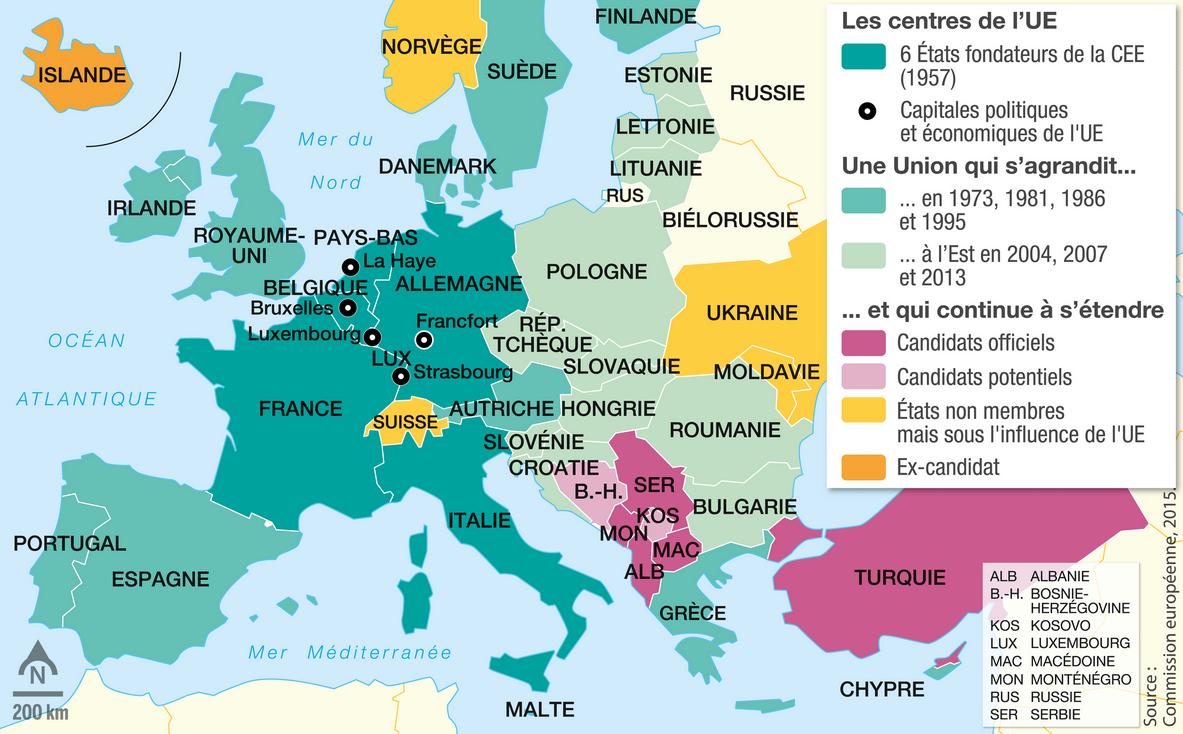 L'union Européenne, Un Nouveau Territoire D'appartenance destiné Capitale Union Européenne