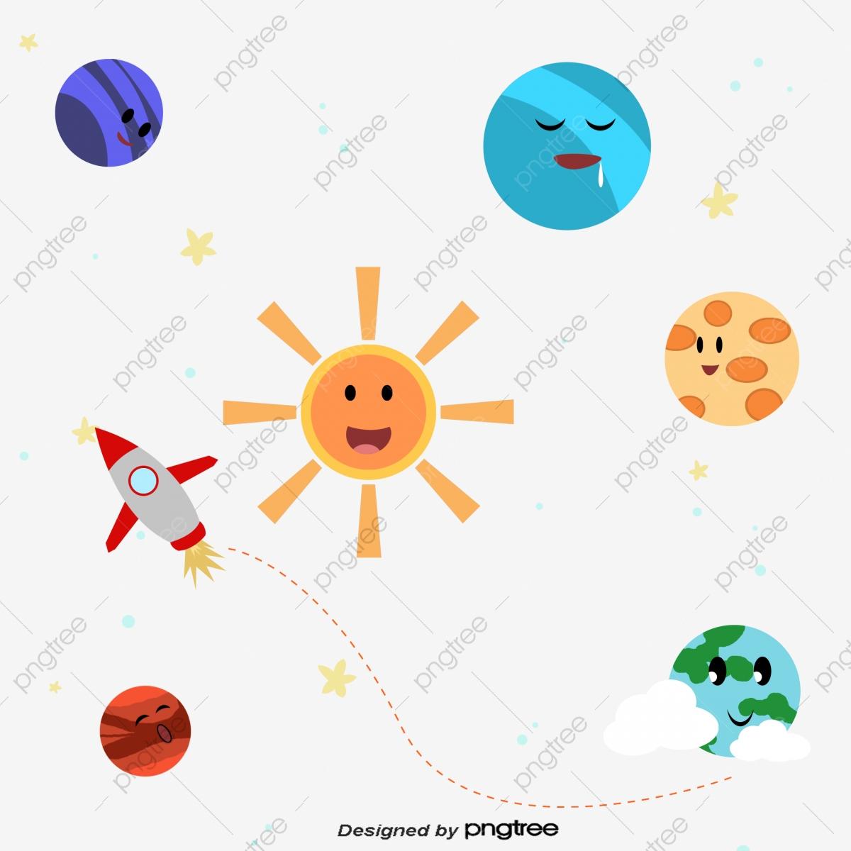 L'univers Des Dessins Animés, L'univers, Les Étoiles à Dessin Du Système Solaire