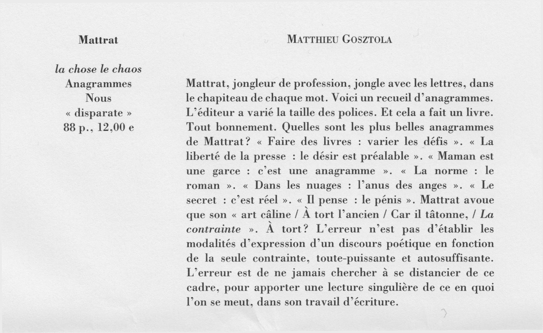 M – N | Matthieu Gosztola -- Site Internet dedans Anagrammes À Imprimer