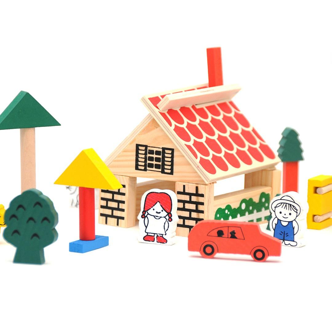 Ma Ferme & Animaux En Bois - 43 Pcs pour Jeux D Apprentissage Maternelle