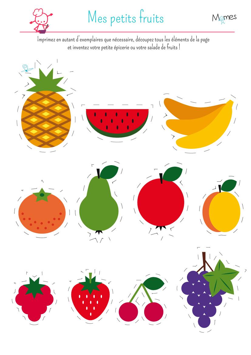 Ma Petite Dinette : Les Fruits - Momes dedans Activité A Imprimer 2 3 Ans