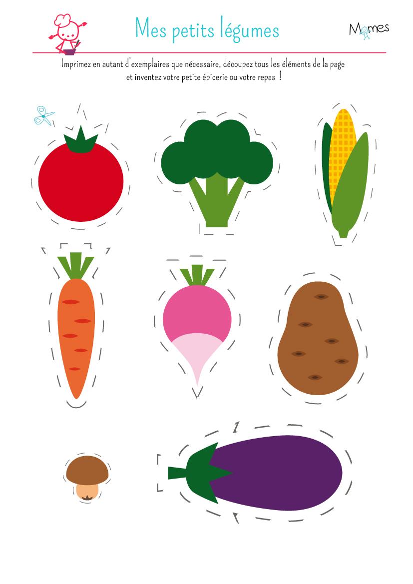 Ma Petite Dinette : Les Légumes - Momes encequiconcerne Jeux À Imprimer 3 Ans
