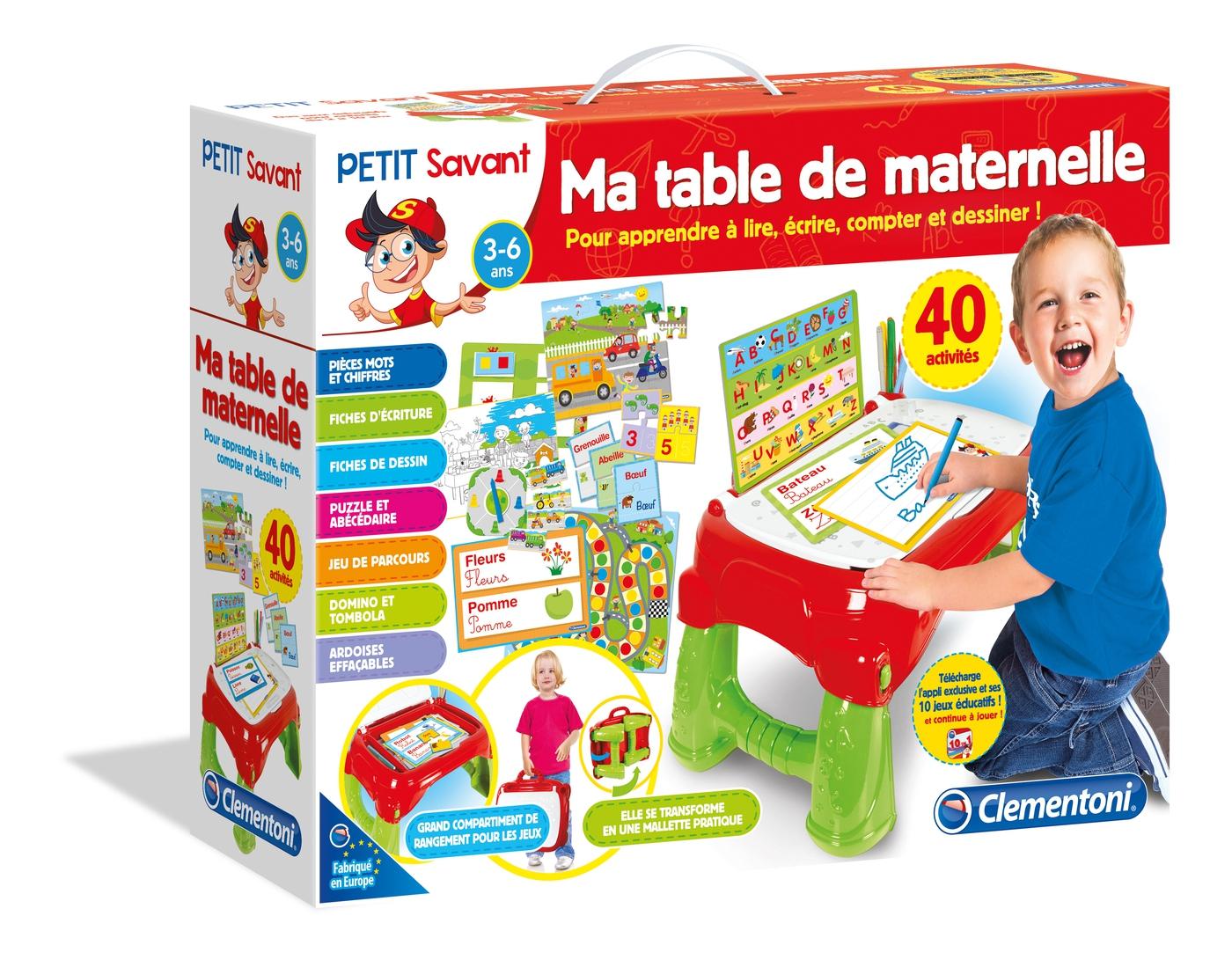 Ma Table De Maternelle - Clementoni dedans Jeux Educatif Gratuit Maternelle