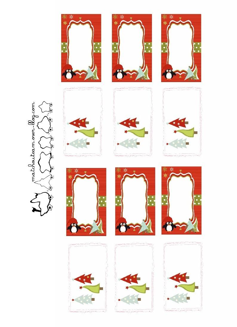Ma Tchou Team: Etiquettes De Noël À Imprimer avec Etiquette Noel À Imprimer