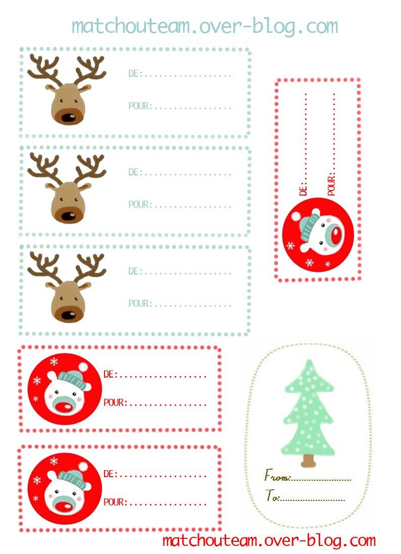 Ma Tchou Team: Imprime Tes Étiquettes Pour Noël avec Etiquette Pour Cadeau De Noel