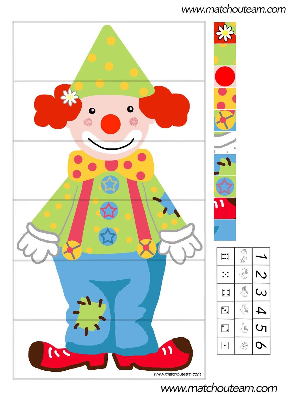 Ma Tchou Team: Jeu Autour D'un Clown À Imprimer serapportantà Jeux De Maternelle À Imprimer