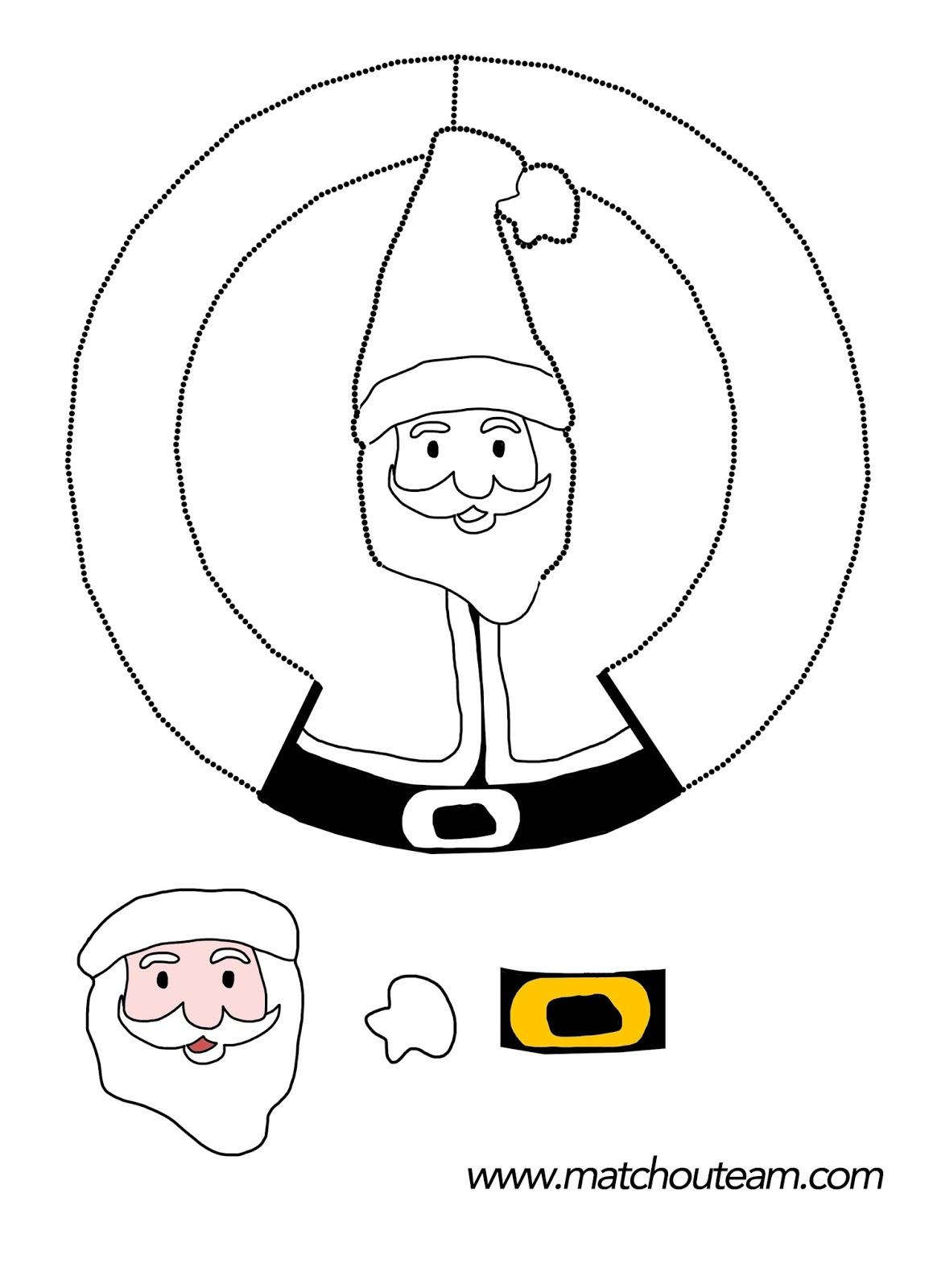 Ma Tchou Team: Père Noël À Colorier Et Modeler !! pour Pere Noel A Imprimer Et A Decouper