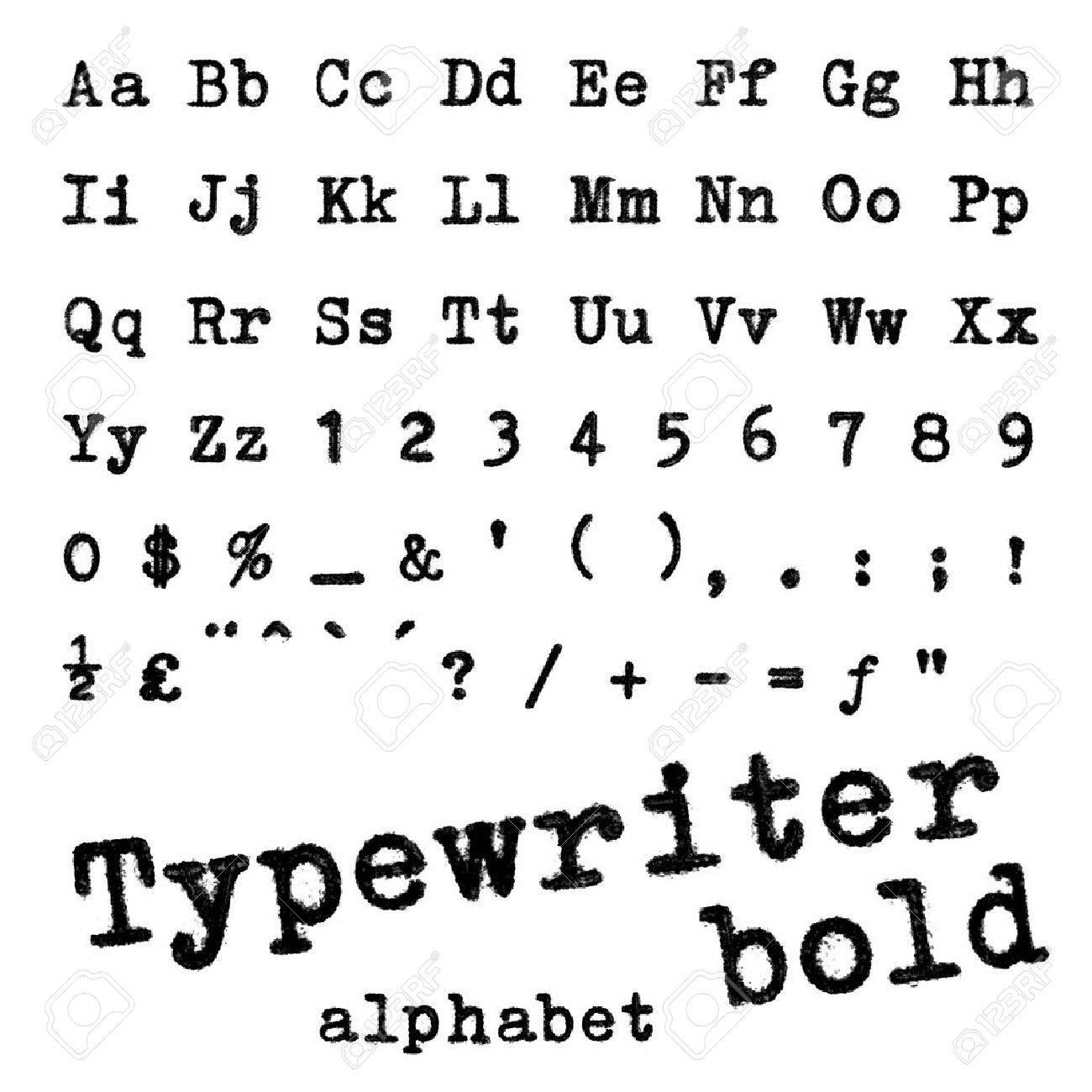 Machine À Écrire En Gras Macro Photographie Alphabet De Lettres De Machine  À Écrire Isolé Sur Blanc serapportantà Ecrire L Alphabet