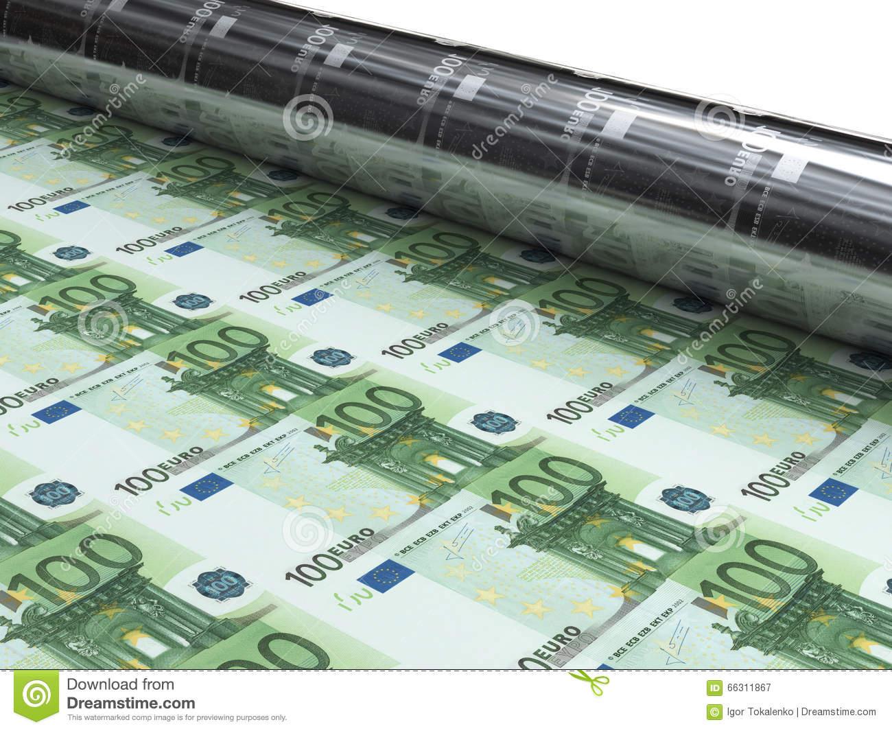 Machine D'argent Pour Imprimer De Nouveaux Euro Billets De à Billet Euro A Imprimer