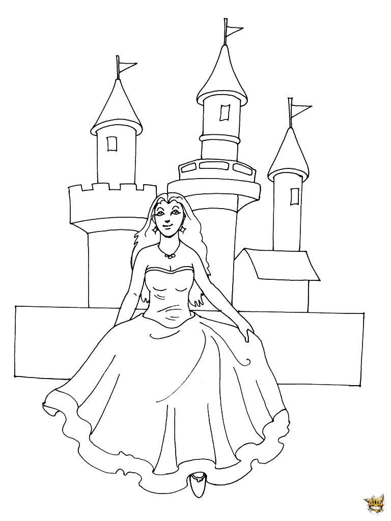 Madame Princesse. Coloriage Chteau Dans Le Ciel. Immmense avec Chateau Princesse Dessin