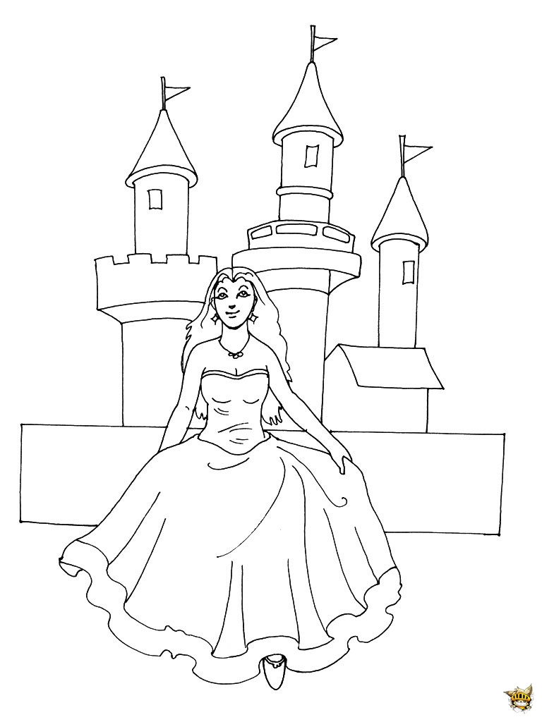 Madame Princesse. Coloriage Chteau Dans Le Ciel. Immmense avec Dessin Chateau Princesse