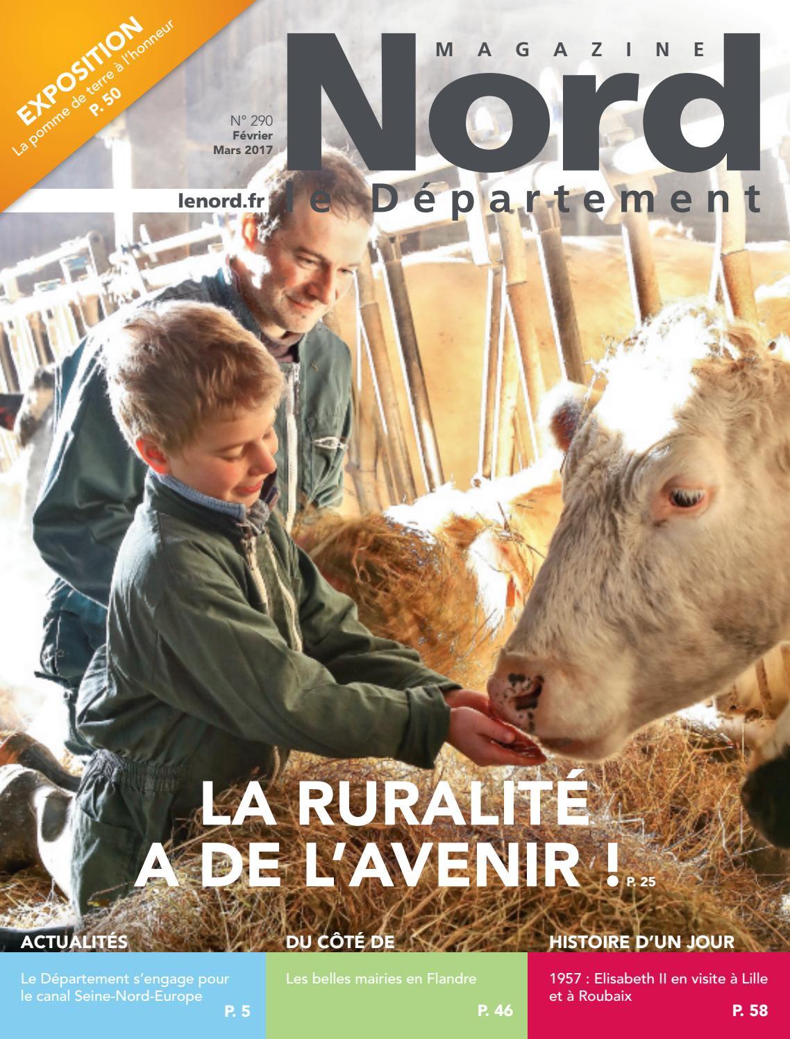 """Magazine """"nord Le Département"""" N°290 - Février-Mars 2017 By pour Apprendre Les Départements En S Amusant"""