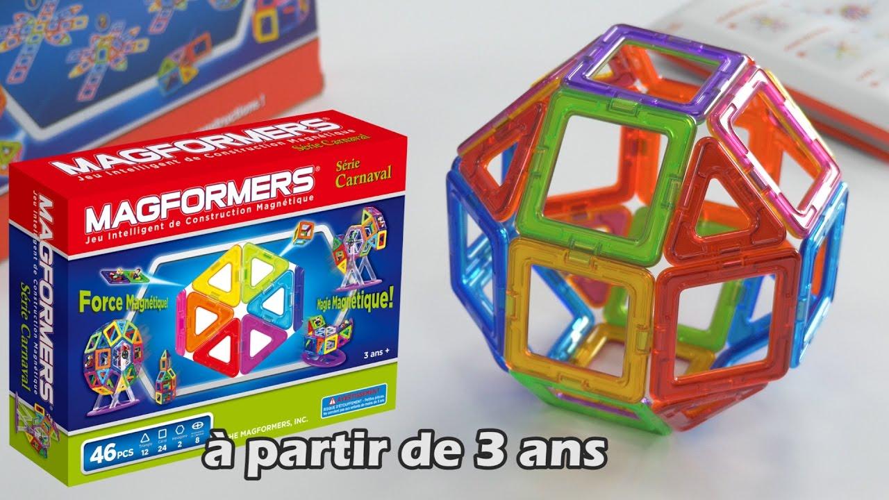 Magformers - Démo Du Jeu De Construction Magnétique 3D intérieur Jeu Interactif 3 Ans