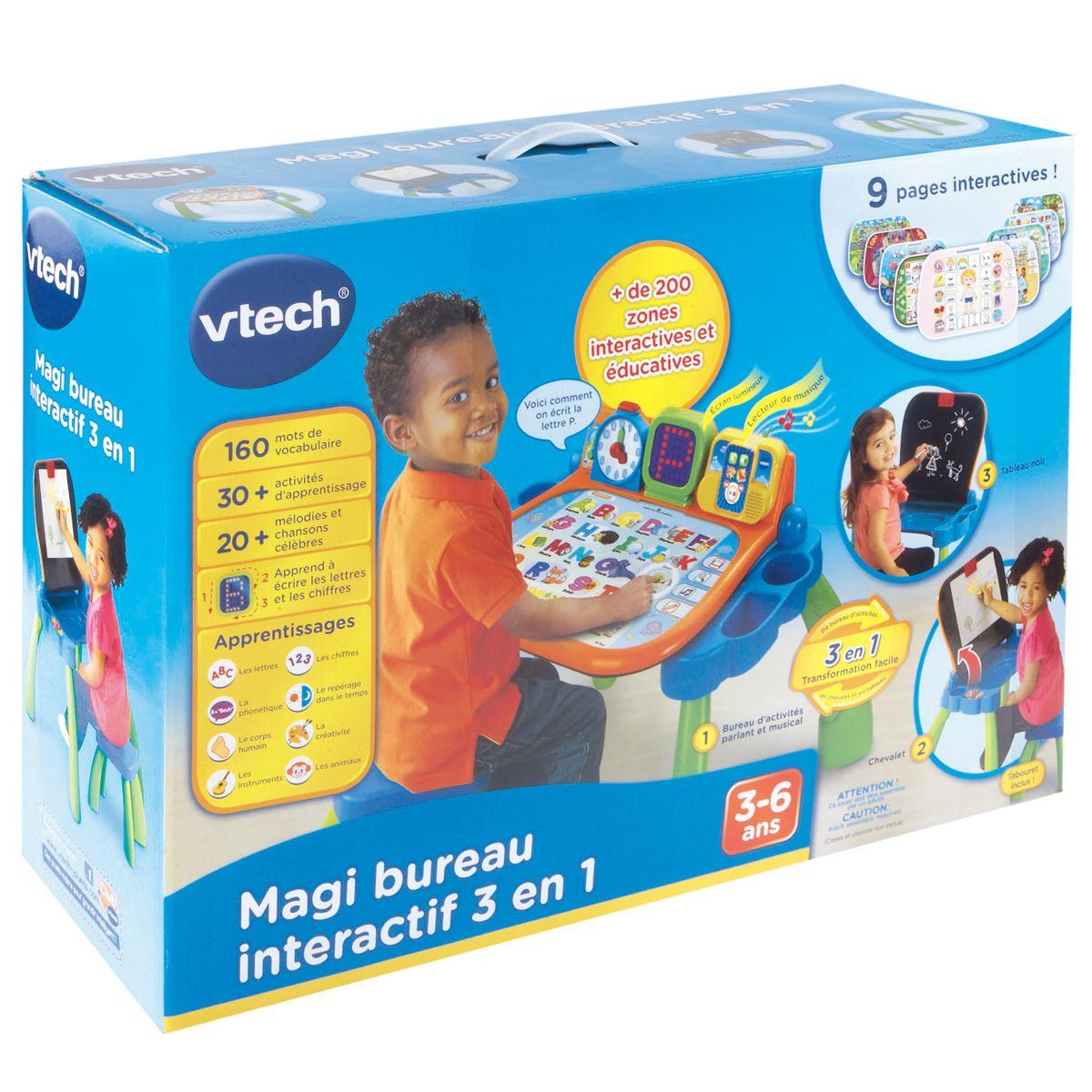 Magi Bureau Interactif 3 En 1 - Jeux Éducatifs Électroniques avec Jeu Interactif 3 Ans