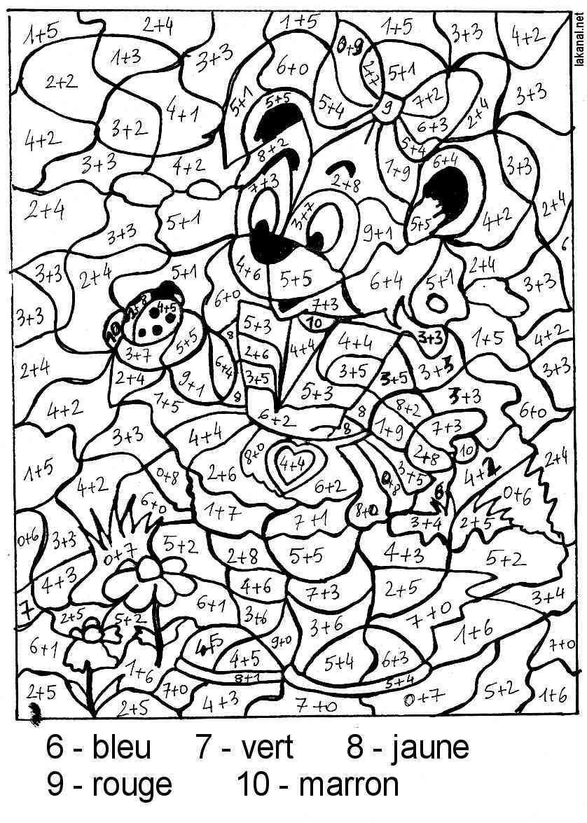 Magic Coloring #13 (Educational) – Printable Coloring Pages tout Coloriage Magique Français Cp