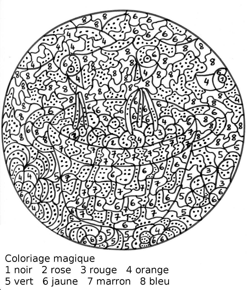 Magic Coloring #32 (Educational) – Printable Coloring Pages à Coloriage Codé Maternelle