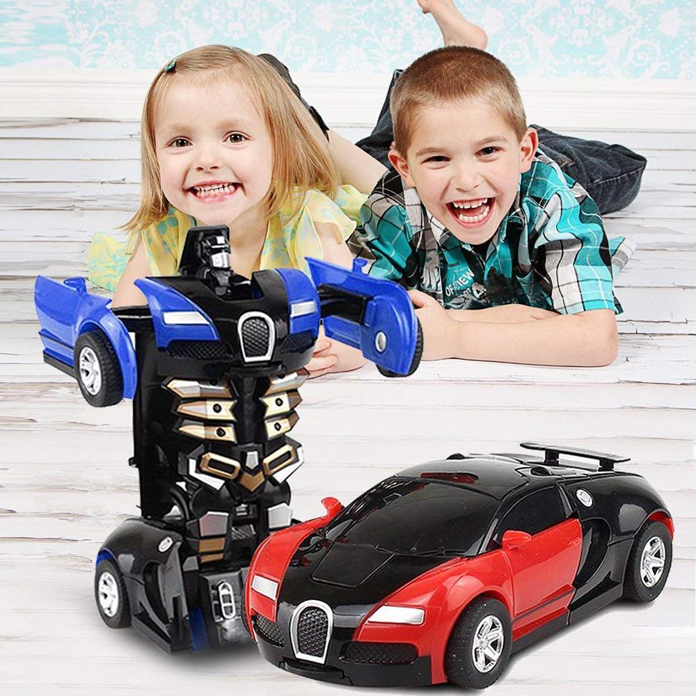 Magie Cartoon Robot Sport Enfants Transformation De Voiture Électronique  Jeu Tout-Petits Jouets Pour Les Enfants Difformes serapportantà Jeux De Voiture Pour Petit