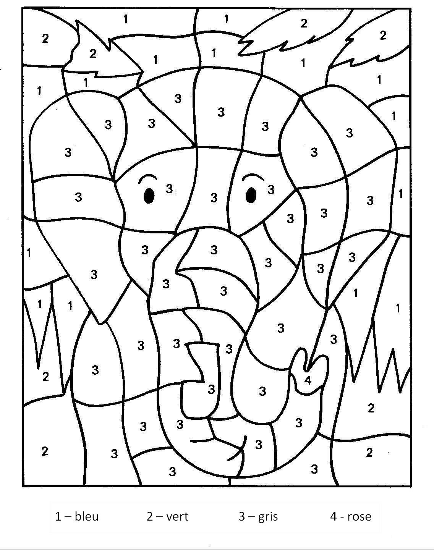 Magique Elephant - Coloriage Magique - Coloriages Pour Enfants à Coloriage Codé Maternelle